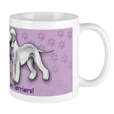Bedlington Terriers with Ribbon Small Mug