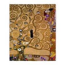 The Tree of Life by Klimt Throw Blanket