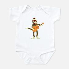 Sock Monkey Acoustic Guitar Player Infant Bodysuit