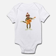 Sock Monkey Acoustic Guitar Player Onesie