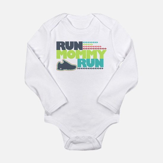 Run Mommy Run - Shoe - Long Sleeve Body Suit
