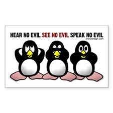 No Evil Penguins Decal