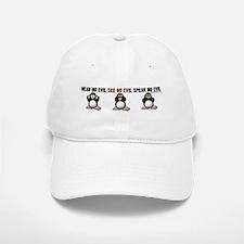 No Evil Penguins Baseball Baseball Cap