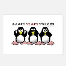 No Evil Penguins Postcards (Package of 8)
