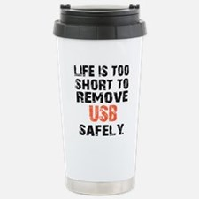 life is too short to re Stainless Steel Travel Mug
