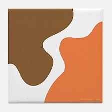 Modern Tangerine Tile Coaster