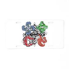 Elemental Charm Aluminum License Plate