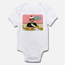 Sock Monkey Sushi Boat Infant Bodysuit