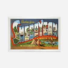 Sheboygan Wisconsin Greetings Rectangle Magnet