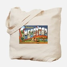 Sheboygan Wisconsin Greetings Tote Bag