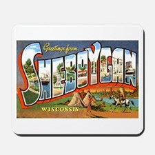 Sheboygan Wisconsin Greetings Mousepad