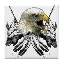 Buffalo Skull Eagle Tile Coaster