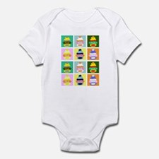Pop Art Sock Monkey Infant Bodysuit