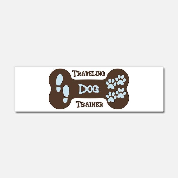 Cute Dog trainer Car Magnet 10 x 3