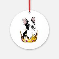 Boston in crown Round Ornament