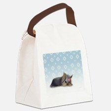 ByCatiaCho Yorkie L.Thinker Canvas Lunch Bag