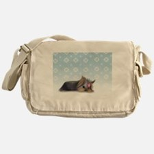 ByCatiaCho Yorkie L.Thinker Messenger Bag