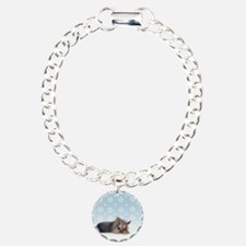 ByCatiaCho Yorkie L.Thinker Charm Bracelet, One Ch