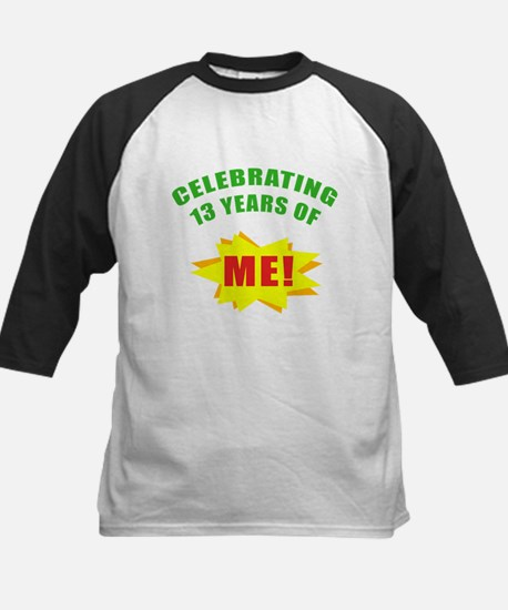 Celebrating Me! 13th Birthday Kids Baseball Jersey