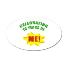 Celebrating Me! 13th Birthday Wall Decal