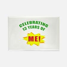 Celebrating Me! 13th Birthday Rectangle Magnet