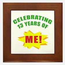 Celebrating Me! 13th Birthday Framed Tile