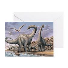 Apatosaurus Dinosaurs Greeting Card