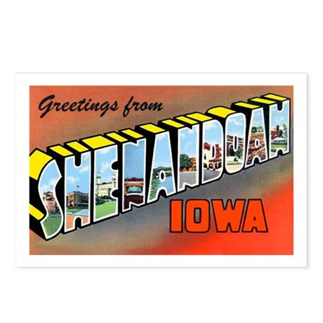Shenandoah Iowa Greetings Postcards (Package of 8)