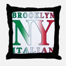 Brooklyn new york Italian Throw Pillow