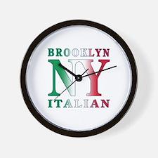 Brooklyn new york Italian Wall Clock