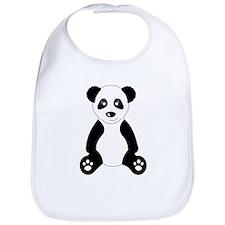 Cute Panda Bear Cartoon Bib