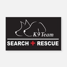 K9 SAR Search Rescue Rectangle Car Magnet