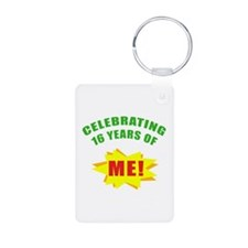 Celebrating Me! 16th Birthday Keychains