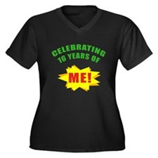 Celebrating Me! 16th Birthday Women's Plus Size V-
