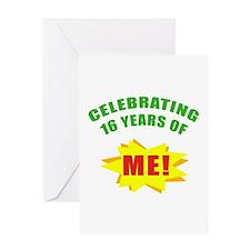 Celebrating Me! 16th Birthday Greeting Card