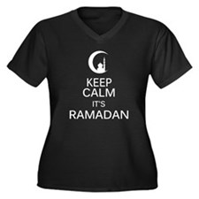 Funny Eid Women's Plus Size V-Neck Dark T-Shirt
