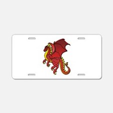 Red Dragon Aluminum License Plate