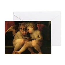 Cherubs Reading by Fiorentino Greeting Card