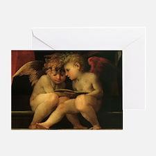 Cherubs Reading by Fiorentino Greeting Card