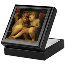 Cherubs Reading by Fiorentino Keepsake Box