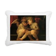 Cherubs Reading by Fiore Rectangular Canvas Pillow