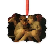 Cherubs Reading by Fiorentino Ornament