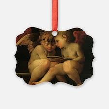 Cherubs Reading by Fiorentino Picture Ornament