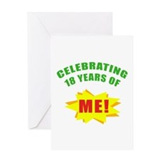 Celebrating Me! 18th Birthday Greeting Card