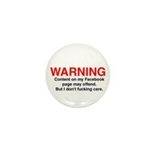 CONTENT MAY OFFEND Mini Button (10 pack)