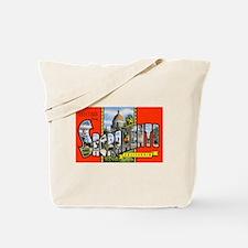 Sacramento California Greetings Tote Bag