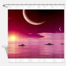 Funny Nightscape Shower Curtain