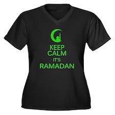Cool Ramadan Women's Plus Size V-Neck Dark T-Shirt