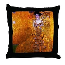 Klimt: Adele Bloch-Bauer I. Throw Pillow