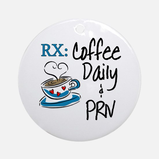 Funny Rx - Coffee Ornament (Round)